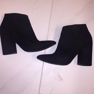 Black Suede Pointed Toe Booties DONATING 11/30